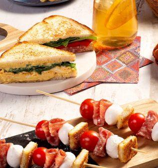 Sanduíche de salame com pimentão