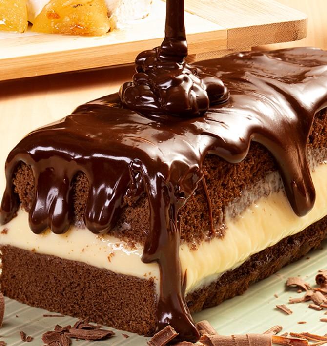 Cassata de Chocolate com leite em pó