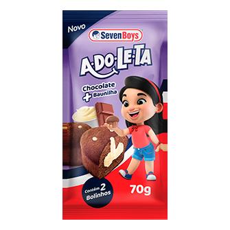 BOLINHO DE CHOCOLATE COM RECHEIO SABOR BAUNILHA