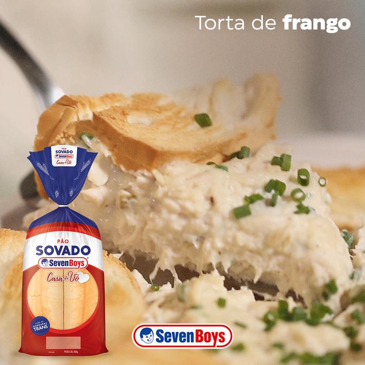 Torta de Frango com Pão Sovado Seven Boys